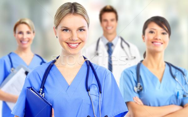 Group of hospital doctors. Stock photo © Kurhan