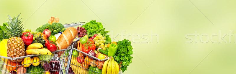 Grocery shopping cart. Stock photo © Kurhan