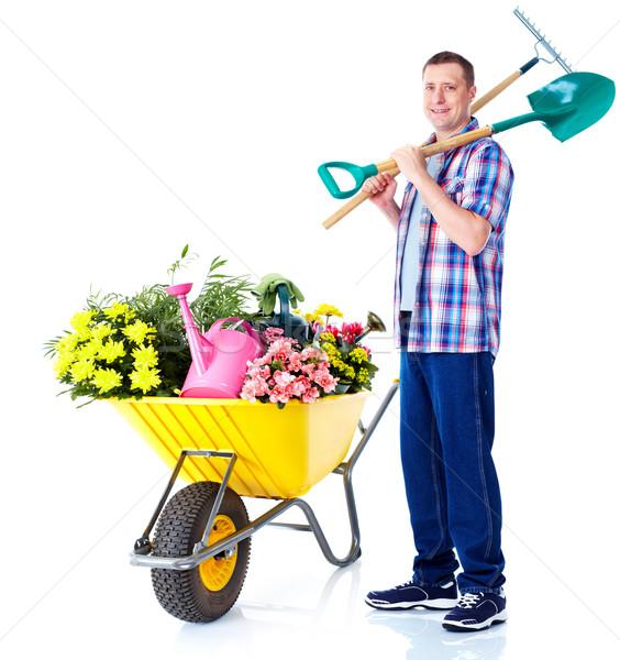 Gardening man. Stock photo © Kurhan