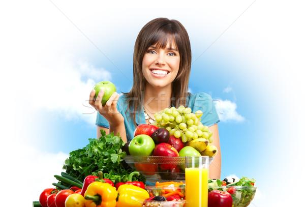 Woman,  fruits, nature Stock photo © Kurhan