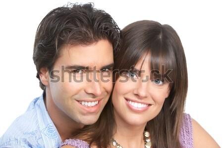 Coppia amore felice sorridere bianco donna Foto d'archivio © Kurhan