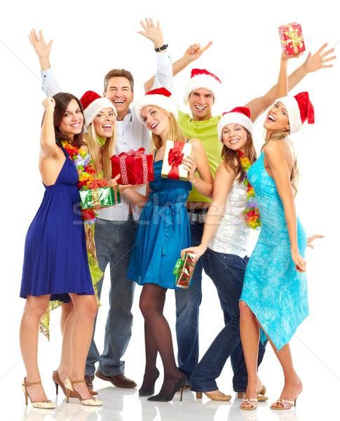 ストックフォト: 幸せな人々 · 幸せ · 面白い · 人 · クリスマス · パーティ