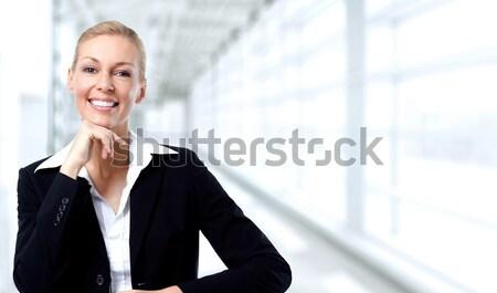 Beautiful business lady. Stock photo © Kurhan