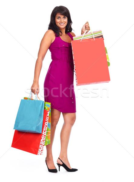 Asian woman with shopping bags. Stock photo © Kurhan