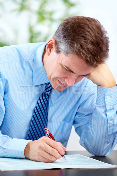 Contador empresario ejecutivo guapo estrés moderna Foto stock © Kurhan