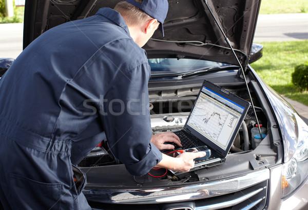 Stok fotoğraf: Araba · mekanik · çalışma · oto · tamir · hizmet