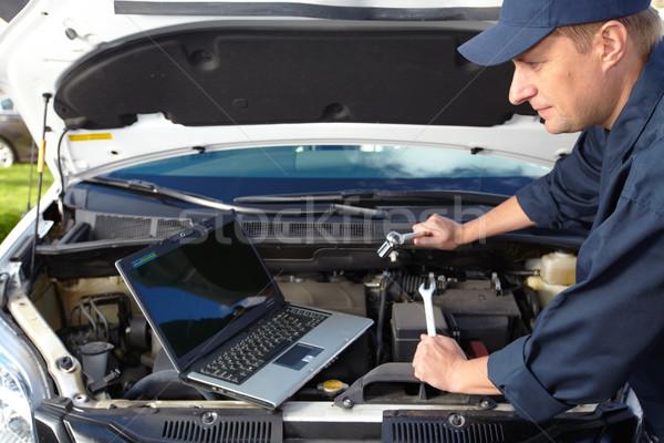 Foto d'archivio: Auto · meccanico · lavoro · auto · riparazione · shop