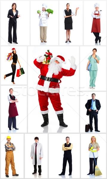 グループ 労働 人 セット クリスマス サンタクロース ストックフォト © Kurhan