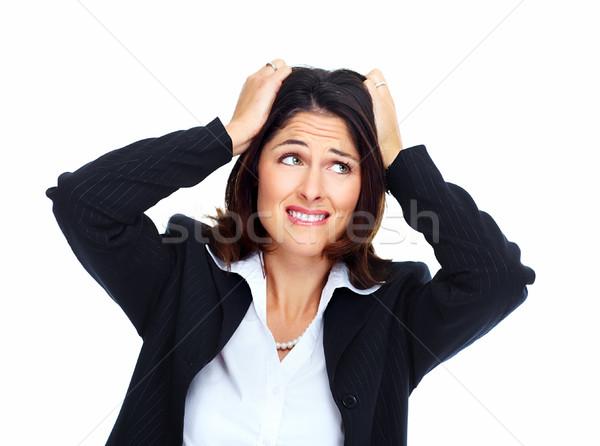 Young woman having a stress. Stock photo © Kurhan