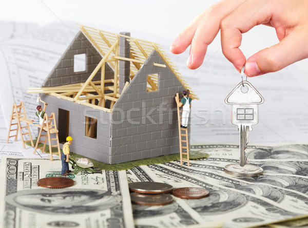 House under construction and key. Stock photo © Kurhan