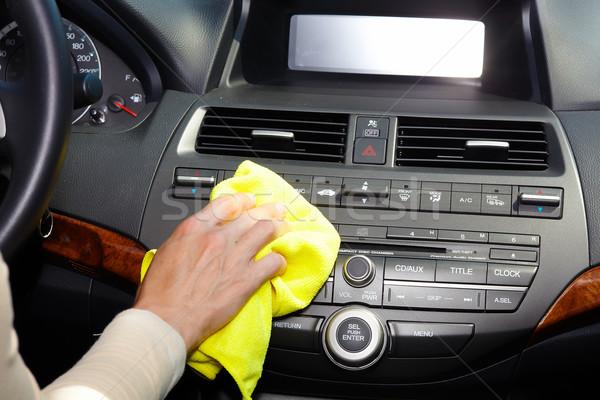 Hand cleaning car. Stock photo © Kurhan