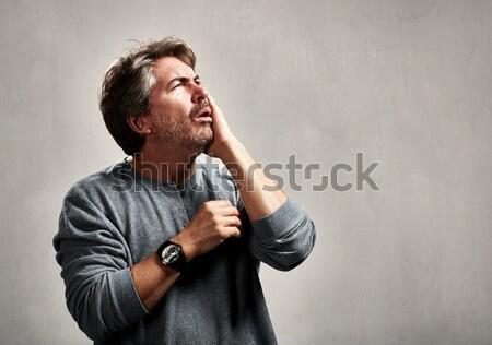 Zły Murzyn furia człowiek portret Zdjęcia stock © Kurhan