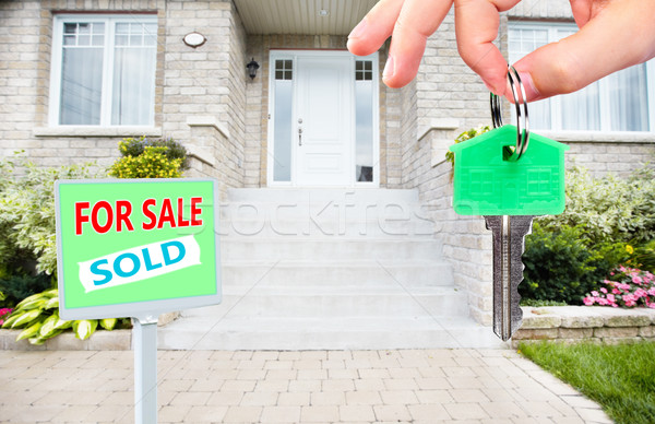 Hand with a house keys. Stock photo © Kurhan