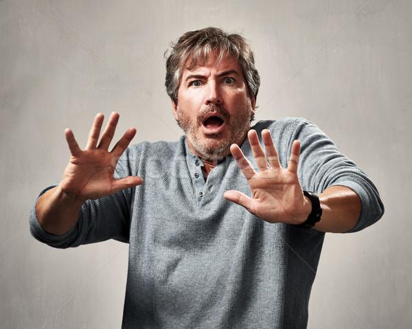 страшно человека лице удивленный зрелый Сток-фото © Kurhan