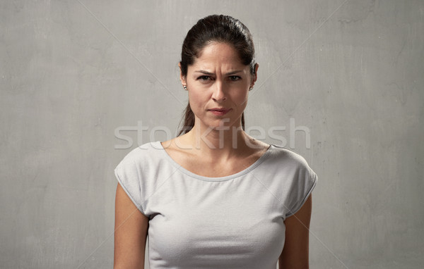Stock photo: misunderstanding girl