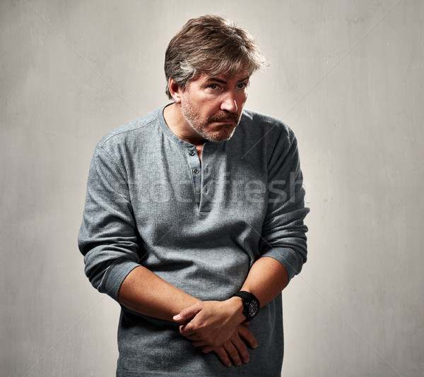 Anxious insecure man Stock photo © Kurhan