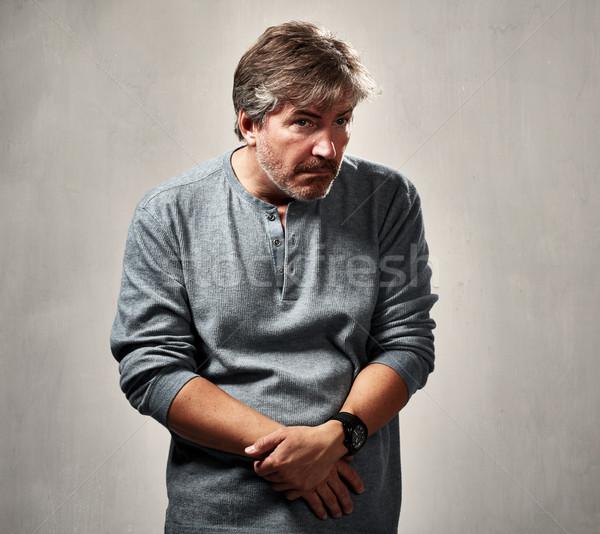 человека зрелый человек портрет серый Сток-фото © Kurhan