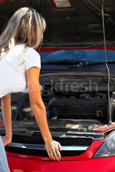 молодые красивой Lady Auto ремонта Сток-фото © Kurhan