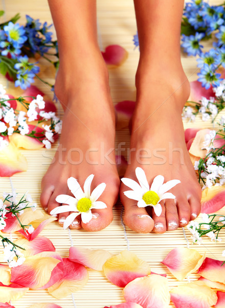 Pieds massage jour spa salon Photo stock © Kurhan