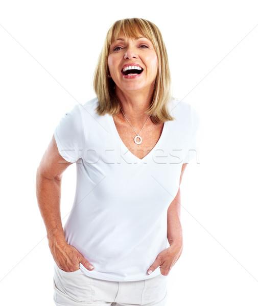 Happy woman. Stock photo © Kurhan