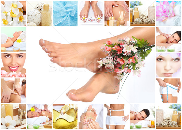 Legs with flower. Stock photo © Kurhan