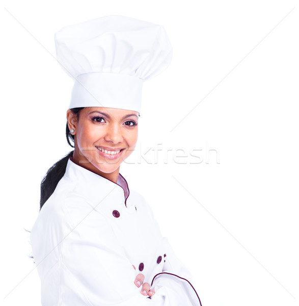Chef woman. Stock photo © Kurhan