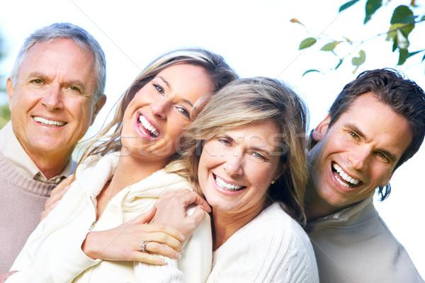 Glückliche Familie Park Vater Mutter Sohn Tochter Stock foto © Kurhan