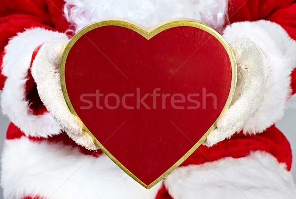 クリスマス サンタクロース ギフト 手 男 ボックス ストックフォト © Kurhan
