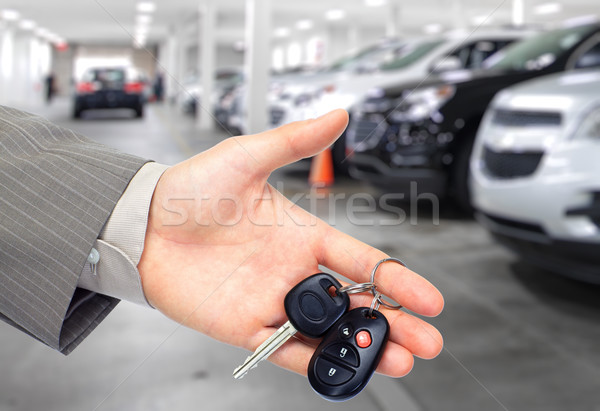 手 車のキー 自動 レンタル 車 ストックフォト © Kurhan