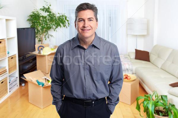 Agente immobiliare uomo sorridere business casa Foto d'archivio © Kurhan