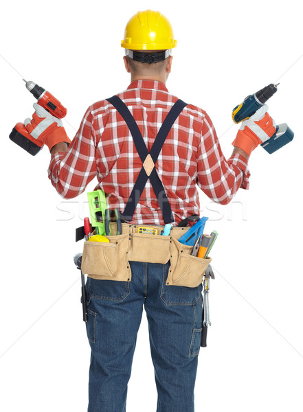 Builder handyman with drill. Stock photo © Kurhan