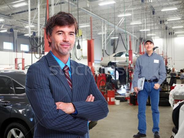 Autószerelő profi menedzser autó javítás bolt Stock fotó © Kurhan