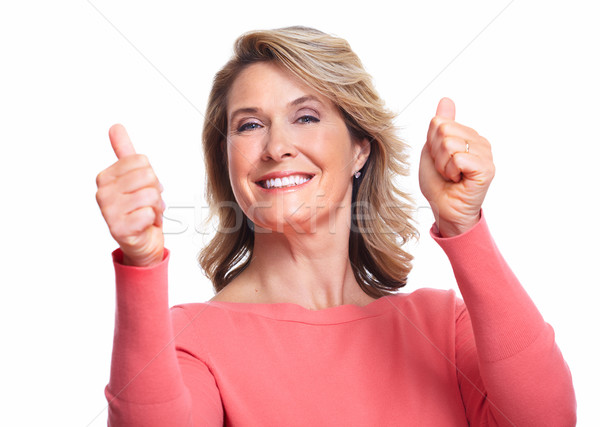 Happy senior woman. Stock photo © Kurhan