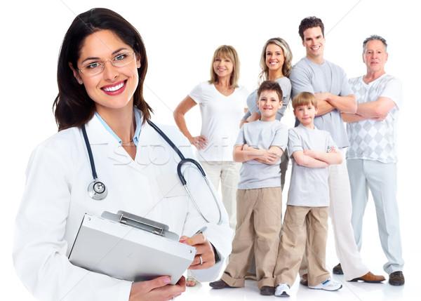 Family doctor woman. Health care. Stock photo © Kurhan