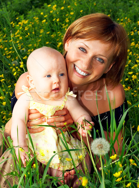 Mother and baby Stock photo © Kurhan