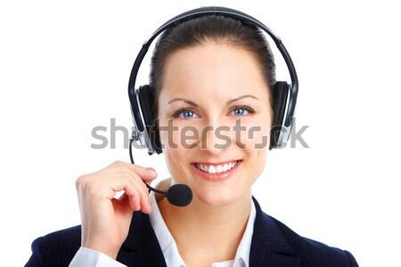 Call Center Operator Stock photo © Kurhan