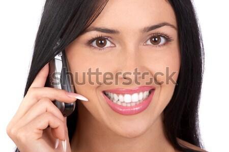 Makyaj güzel kadın yüz seksi moda Stok fotoğraf © Kurhan