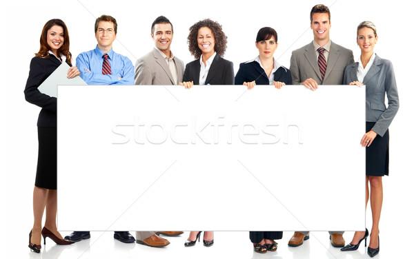Foto stock: Pessoas · de · negócios · jovem · sorridente · branco · mulher
