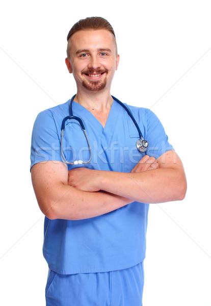 Smiling hospital doctor. Stock photo © Kurhan