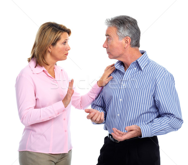 Stressed unhappy couple. Stock photo © Kurhan
