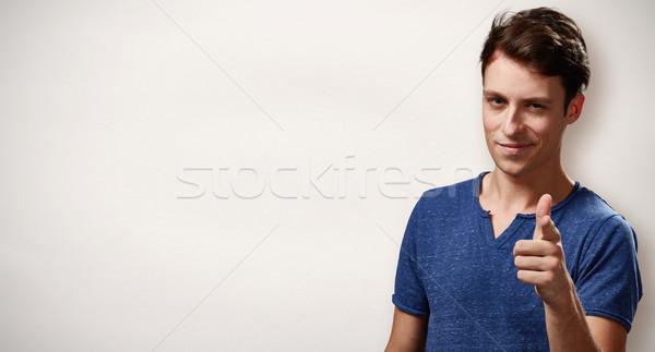 Man pointing to the camera Stock photo © Kurhan