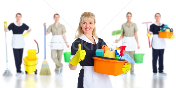 Stock photo: Cleaner maid woman.