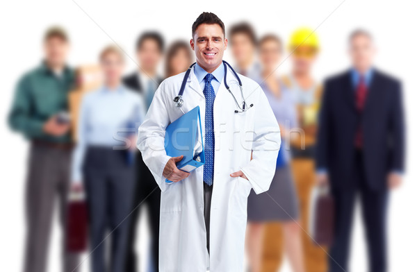 Doctor and a group of workers. Stock photo © Kurhan