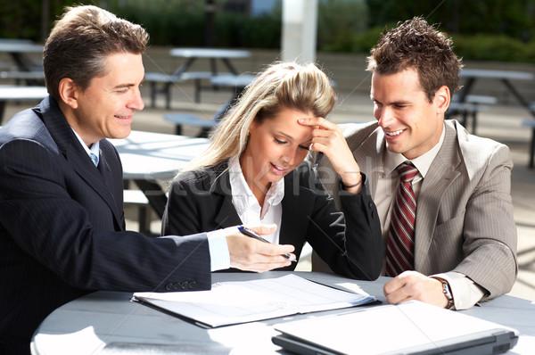 Pessoas de negócios reunião de negócios centro da cidade empresários mulher de negócios negócio Foto stock © Kurhan