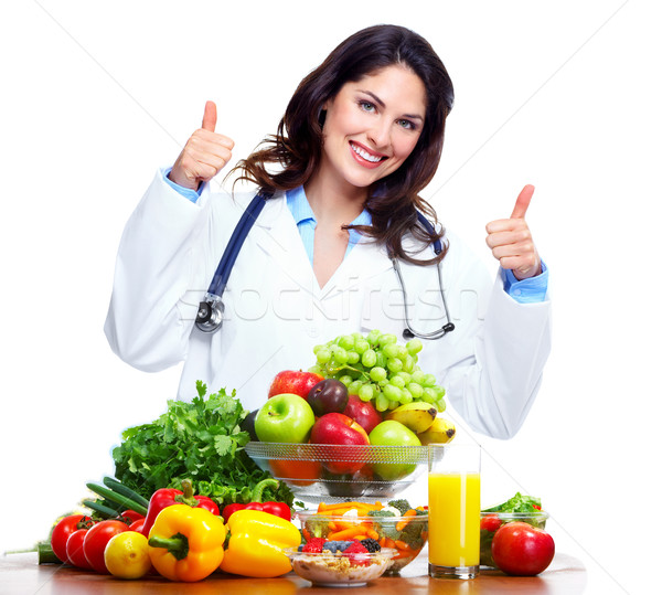 Nutritionist doctor woman Stock photo © Kurhan