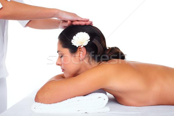 美人 マッサージ 健康 女性 花 ストックフォト © Kurhan