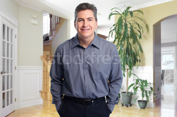 Real estate agent man at new house. Stock photo © Kurhan