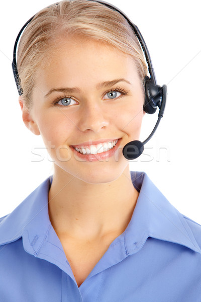 Call Center Operator Stock photo © Kurhan