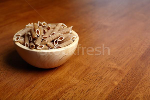Organisch volkoren voedsel achtergrond tabel pasta Stockfoto © Kurhan