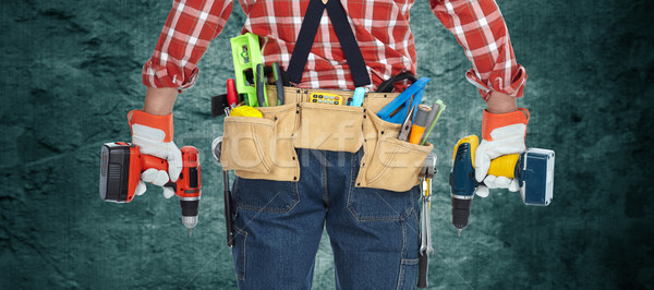 Electrician with drill. Stock photo © Kurhan